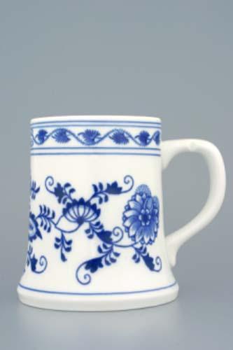 Zwiebelmuster Beer Jug 0.50L, Original Bohemia Porcelain from Dubi