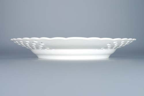 Zwiebelmuster Plate Perforated 24cm, Original Bohemia Porcelain from Dubi