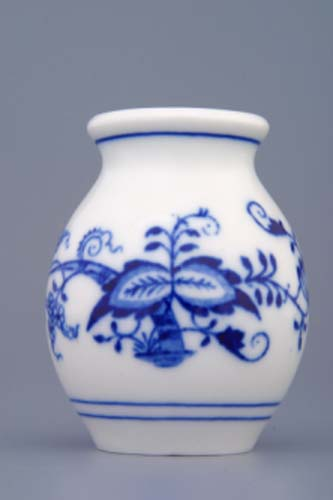 Zwiebelmuster Vase 1209 Original 7cm Bohemia Porzellan aus Dubi