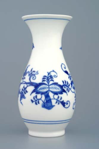Zwiebelmuster Vase 1210/1 16.5cm, Original Bohemia Porcelain from Dubi
