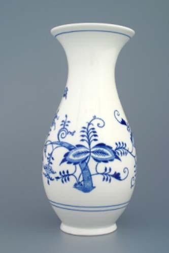 Zwiebelmuster Vase 1210/3 25,5cm Original Bohemia Porzellan aus Dubi