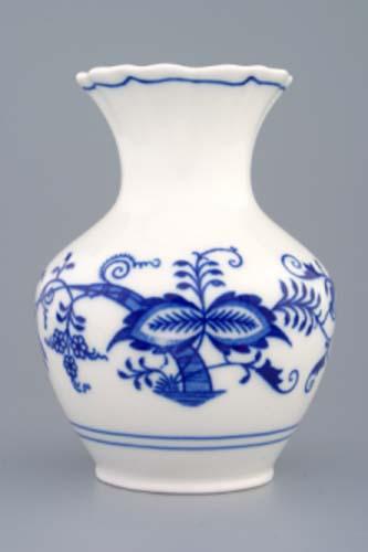 Zwiebelmuster Vase 2544 13.5cm, Original Bohemia Porcelain from Dubi