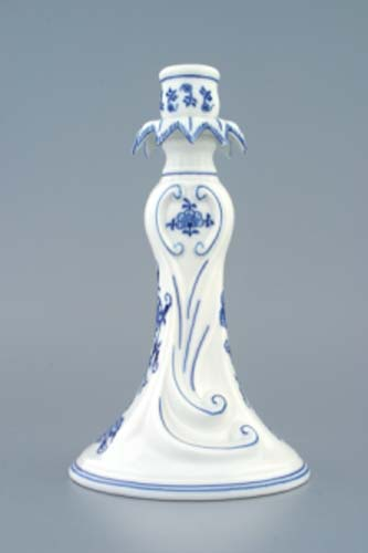 Zwiebelmuster Canlde Holder 1983 22cm, Original Bihemia Porcelain from Dubi