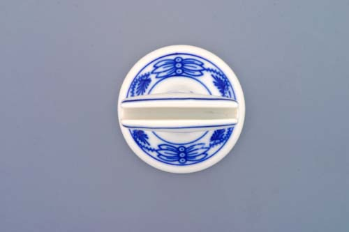 Zwiebelmuster Card Holder 7cm, Original Bohemia Porcelain from Dubi