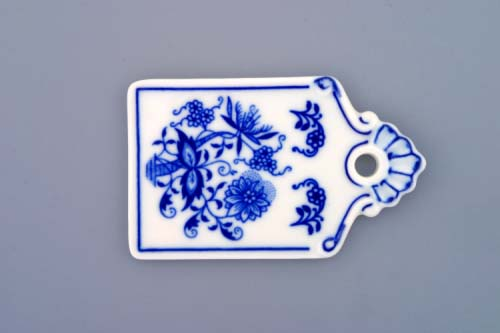 Zwiebelmuster Mini Bread Tray 9cm, Original Bohemia Porcelain from Dubi