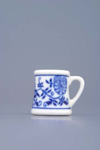 Zwiebelmuster Mini Beer Jug 3cm, Original Bohemia Porcelain from Dubi
