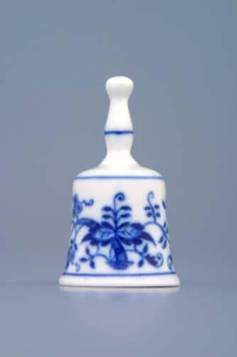 Zwiebelmuster Mini Bell 6cm, Original Bohemia Porcelain from Dubi