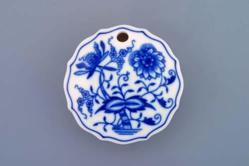Zwiebelmuster Sweetner Container, Original Bohemia Porcelain from Dubi
