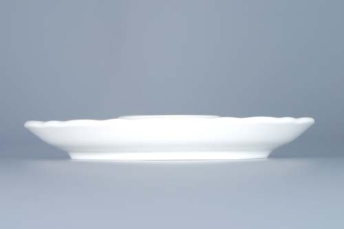 Zwiebelmuster Low Based Egg Cup, Original Bohemia Porcelain from Dubi