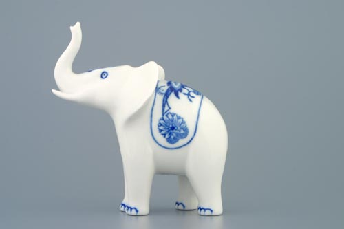 Zwiebelmuster Elephant I, Original Bohemia Porcelain from Dubi
