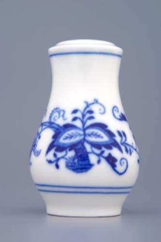 Zwiebelmuster Salt Shaker 7.5cm, Original Bohemia Porcelain from Dubi