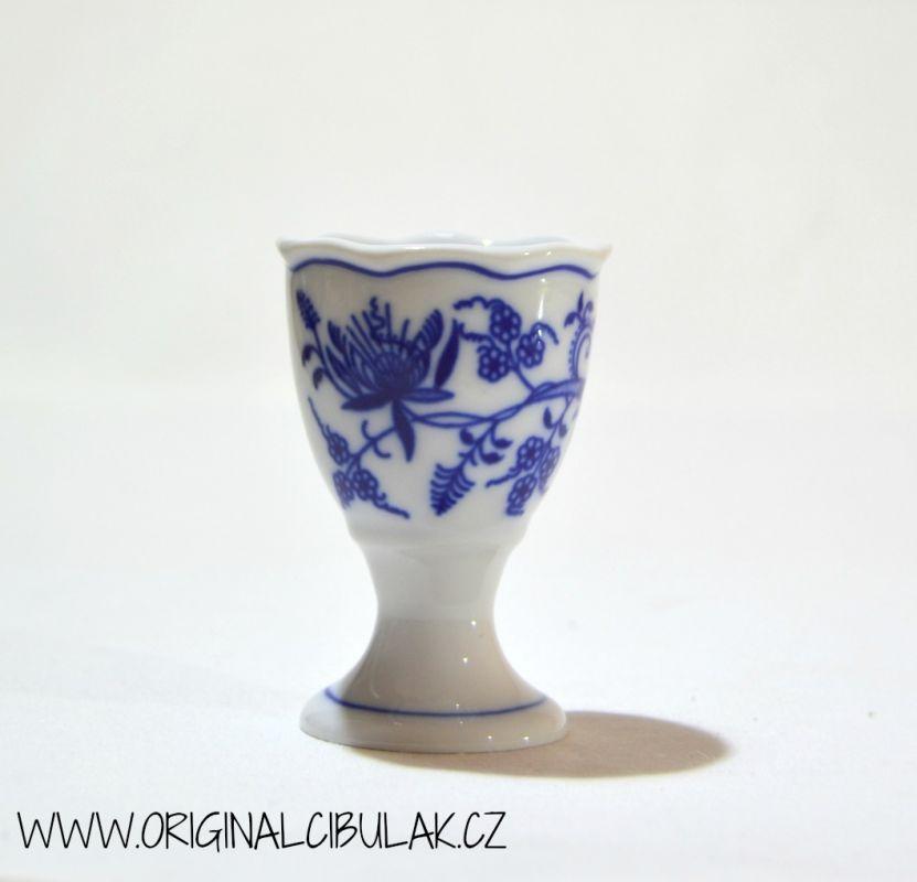Zwiebelmuster Egg Cup, Original Bohemia Porcelain from Dubi