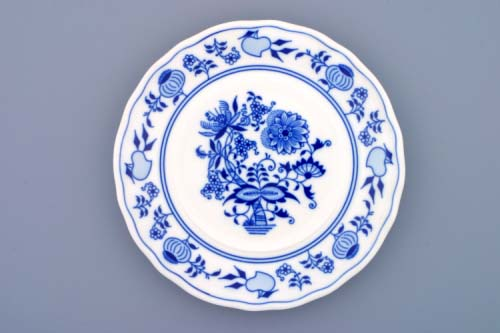 Zwiebelmuster Cheese Container Bottom Part, Original Bohemia Porcelain from Dubi