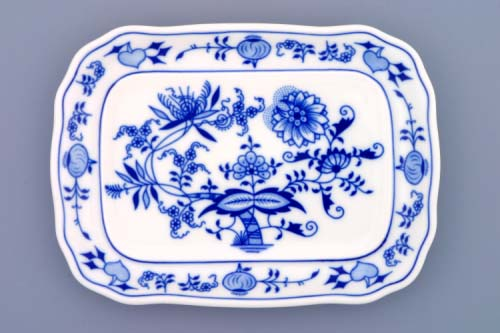 Zwiebelmuster Butter Dish Bottom Part, Original Bohemia Porcelain from Dubi