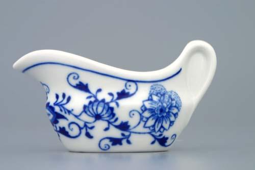 Zwiebelmuster Sauceboat Oval 0.05L, Original Bohemia Porcelain from Dubi