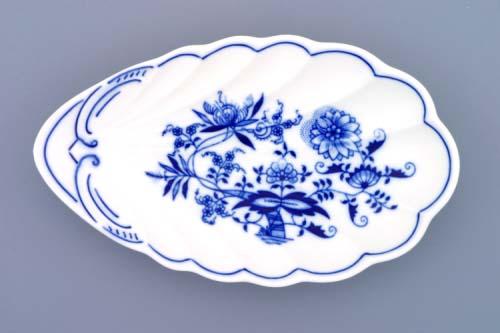 Zwiebelmuster Shell Dish 23cm, Original Bohemia Porzcelain from Dubi
