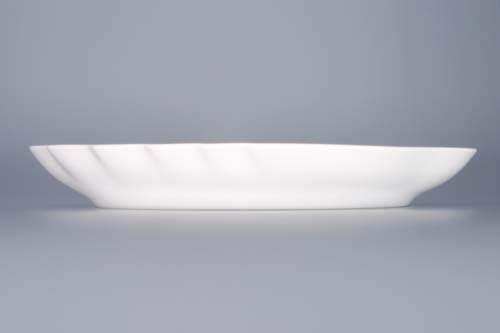 Zwiebelmuster Double Leaf Dish 24cm, Original Bohemia Porcelain from Dubi