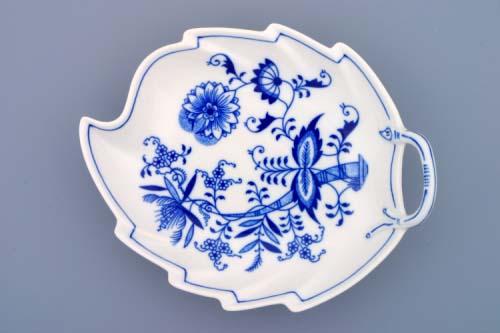 Zwiebelmuster Leaf Dish 22cm, Original Bohemia Porcelain from Dubi
