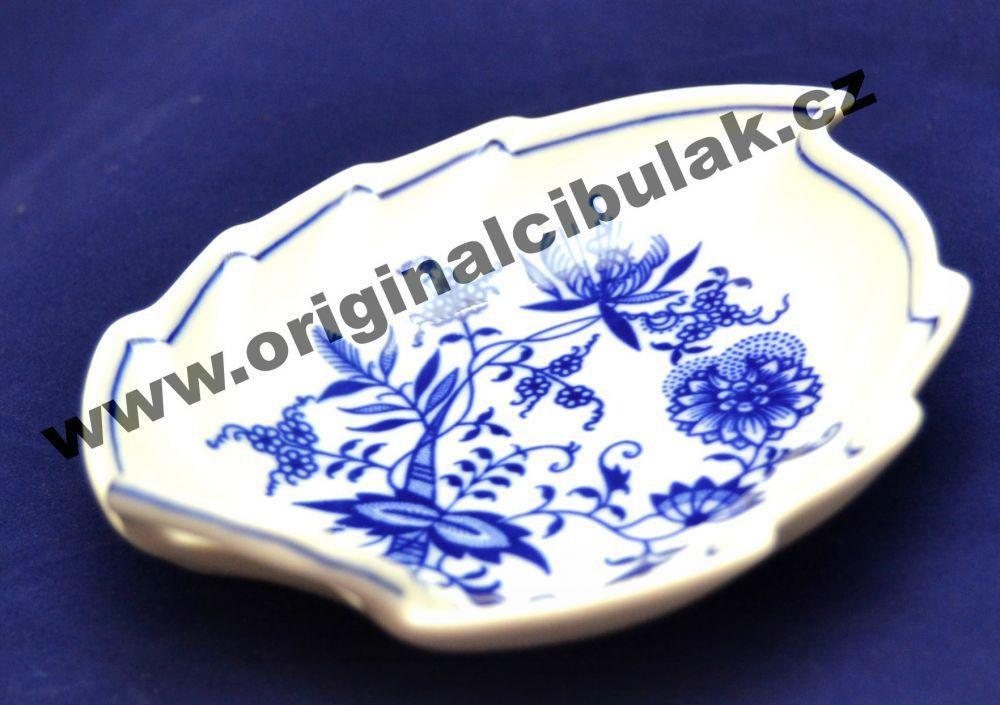 Zwiebelmuster Leaf Dish 15cm, Original Bohemia Porcelain from Dubi