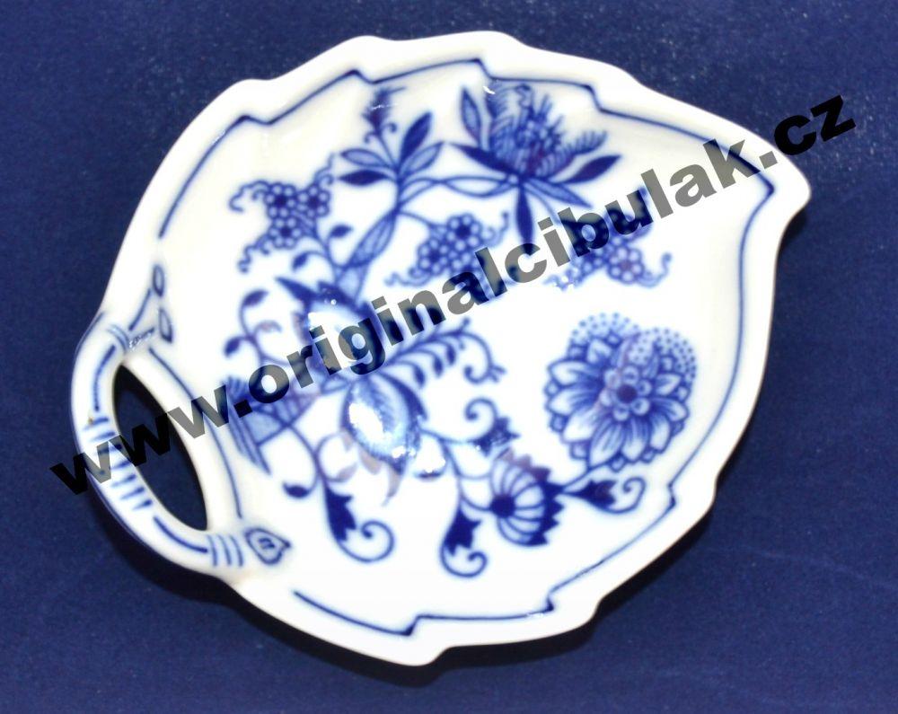 Zwiebelmuster Leaf Dish 10.5cm, Original Bohemia Porcelain from Dubi
