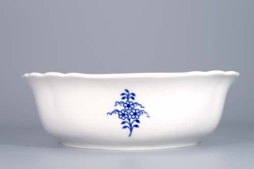 Zwiebelmuster Salad Dish Square 21cm, Original Bohemia Porcelain from Dubi