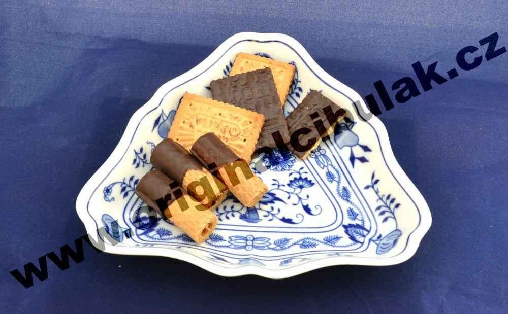 Zwiebelmuster Salad Dish Triangular 19.5cm, Original Bohemia Porcelain from Dubi