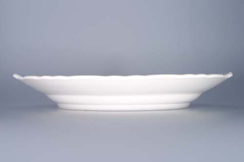 Zwiebelmuster Cake Plate with Handles 28cm, Original Bohemia Porcelain from Dubi