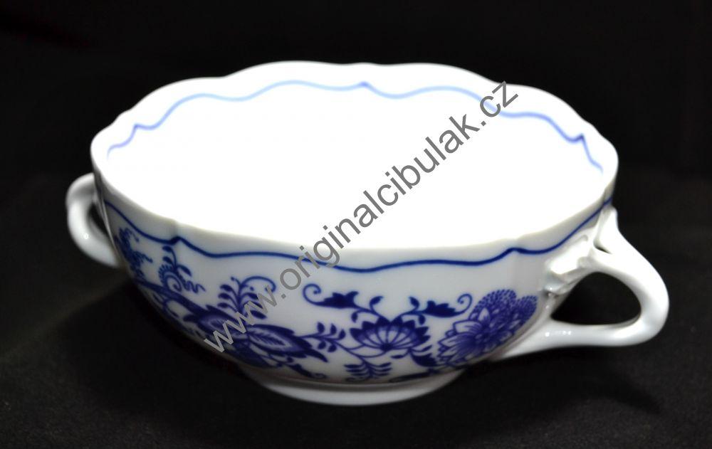 Zwiebelmuster Tasse mit 2 Henkel 0,30L Original Bohemia Porzellan aus Dubi