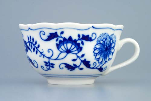 Zwiebelmuster Cup low C/1 0.20L, Original Bohemia Porcelain from Dubi