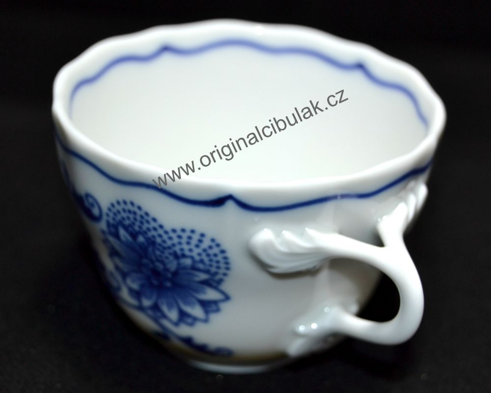 Zwiebelmuster Cup Tall A 0.08L, Original Bohemia Porcelain from Dubi