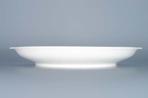 Zwiebelmuster Plate with Handles 24.6cm, Original Bohemia Porcelain from Dubi