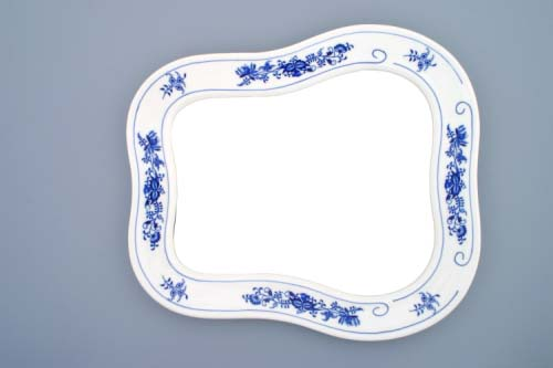 Zwiebelmuster Wall Mirror 40cm, Original Bohemia Porcelian from Dubi