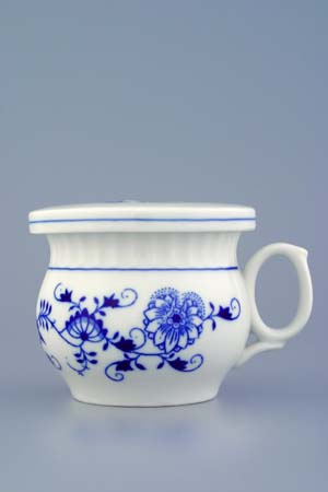 Zwiebelmuster Cover 9.6cm, Original Bohemia Porcelain from Dubi