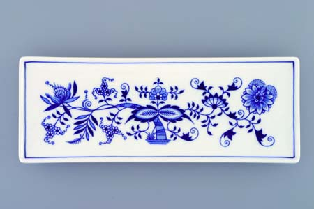 Zwiebelmuster Fish Dish 27.5cm, Original Bohemia Porcelain from Dubi