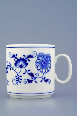 Zwiebelmuster Mug Lukas 0.27L, Original Bohemia Porcelain from Dubi