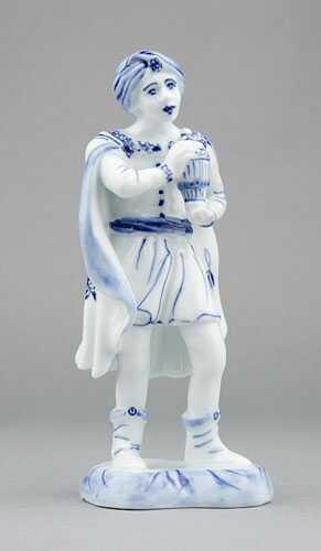 Zwiebelmuster King Baltazar 16cm, Original Bohemia Porcelain from Dubi