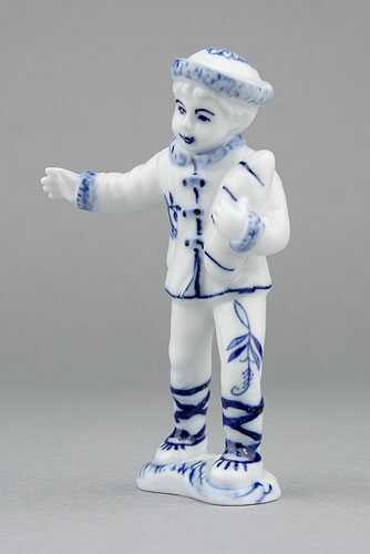 Zwiebelmuster Boy 10.8cm, Original Bohemia Porcelain from Dubi
