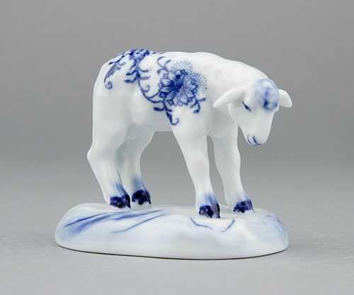 Zwiebelmuster Lamb 6cm, Original Bohemia Porcelain from Dubi