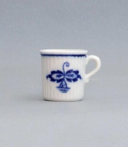 Zwiebelmuster Mug Mozart mini 3cm, Original Bohemia Porcelain from Dubi