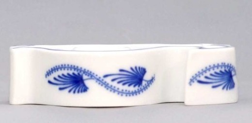 Zwiebelmuster Candle Holder Fish, Original Bohemia Porcelain from Dubi