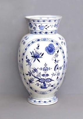 Zwiebelmuster Vase Large 48cm, Original Bohemia Porcelain from Dubi