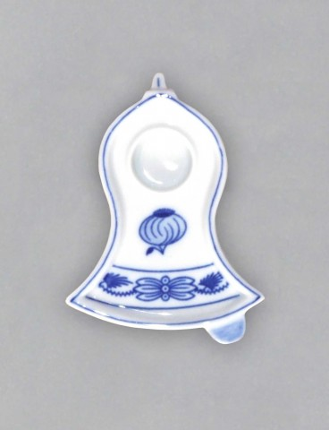 Zwiebelmuster Candle Holder Bell 8.7cm, Original Bohemia Porcelain from Dubi