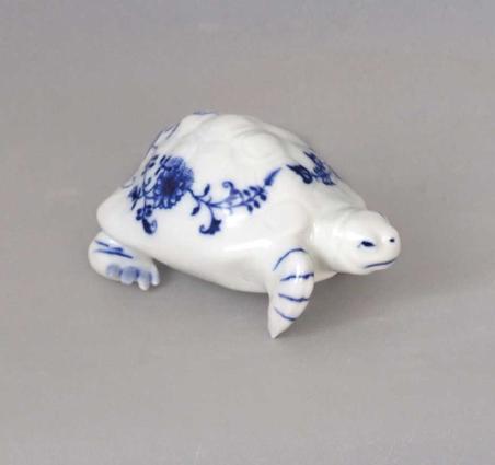Zwiebelmuster Turtle 9cm, Original Bohemia Porcelain from Dubi