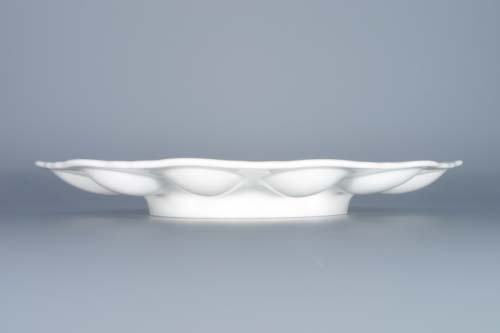 Zwiebelmuster Tray for Eggs 24.3cm, Original Bohemia Porcelain from Dubi