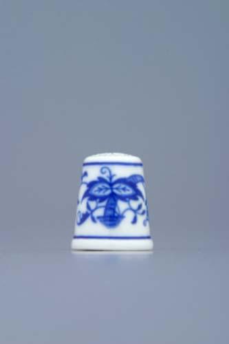 Zwiebelmuster Thimble 2.7cm, Original Bohemia Porcelian from Dubi