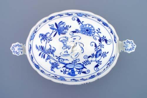 Zwiebelmuster SoupTureen oval 3L, Original Bohemia Porcelain from Dubi