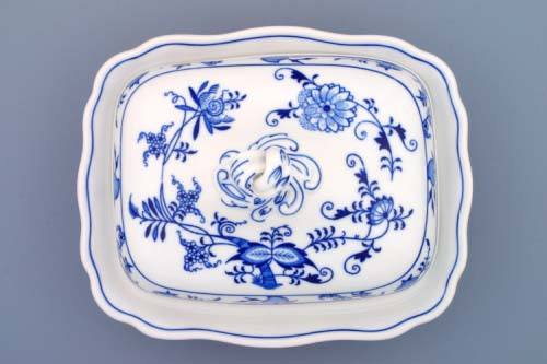 Zwiebelmuster Ragout Dish 0.40L, Original Bohemia Porcelain from Dubi