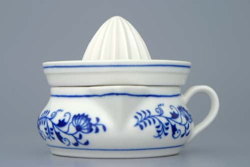 Zwiebelmuster Lemon Squeezer 10cm, Original Bohemia Porcelain from Dubi