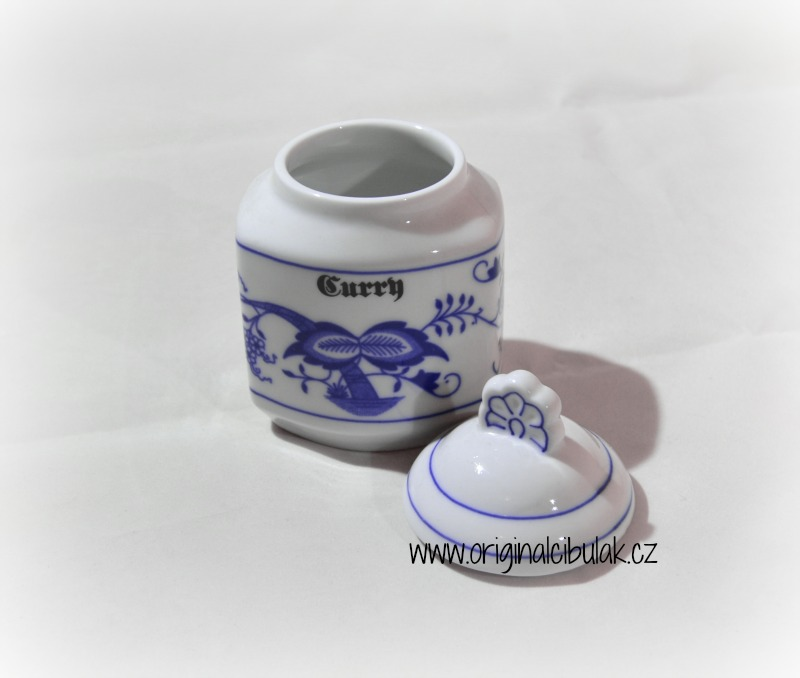 Zwiebelmuster Spice Container 0.20L, Original Bohemia Porcelain from Dubi
