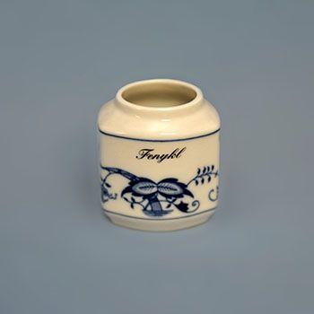 Zwiebelmuster Spice Container 0.20L, Original Bohemi Porcelain from Dubi